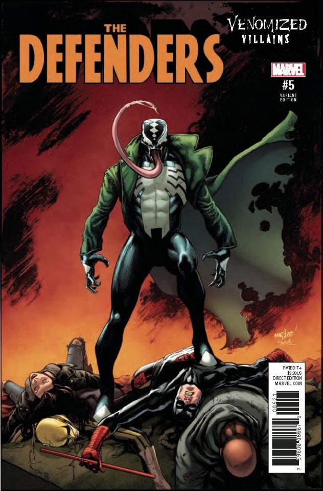 The Defenders #5 (Venomized Diamondback Cover)