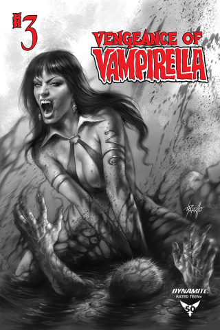 Vengeance of Vampirella #3 (11 Copy Parrillo B&W Cover)