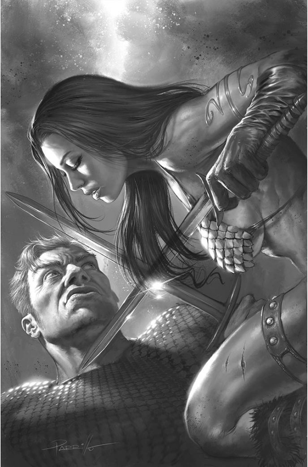 Red Sonja: The Superpowers #4 (50 Copy Parrillo B&W Virgin Cover)
