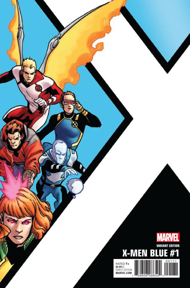 X-Men: Blue #1 (Kirk Corner Box Cover)