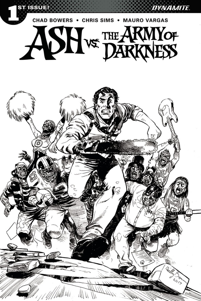 Ash vs. The Army of Darkness #1 (20 Copy Brown B&W Cover)
