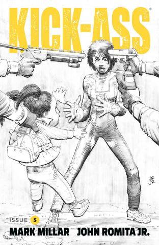 Kick-Ass #5 (B&W Romita Jr. Cover)