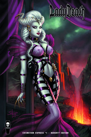 Lady Death: Extinction Express #1 (Naughty Cover)