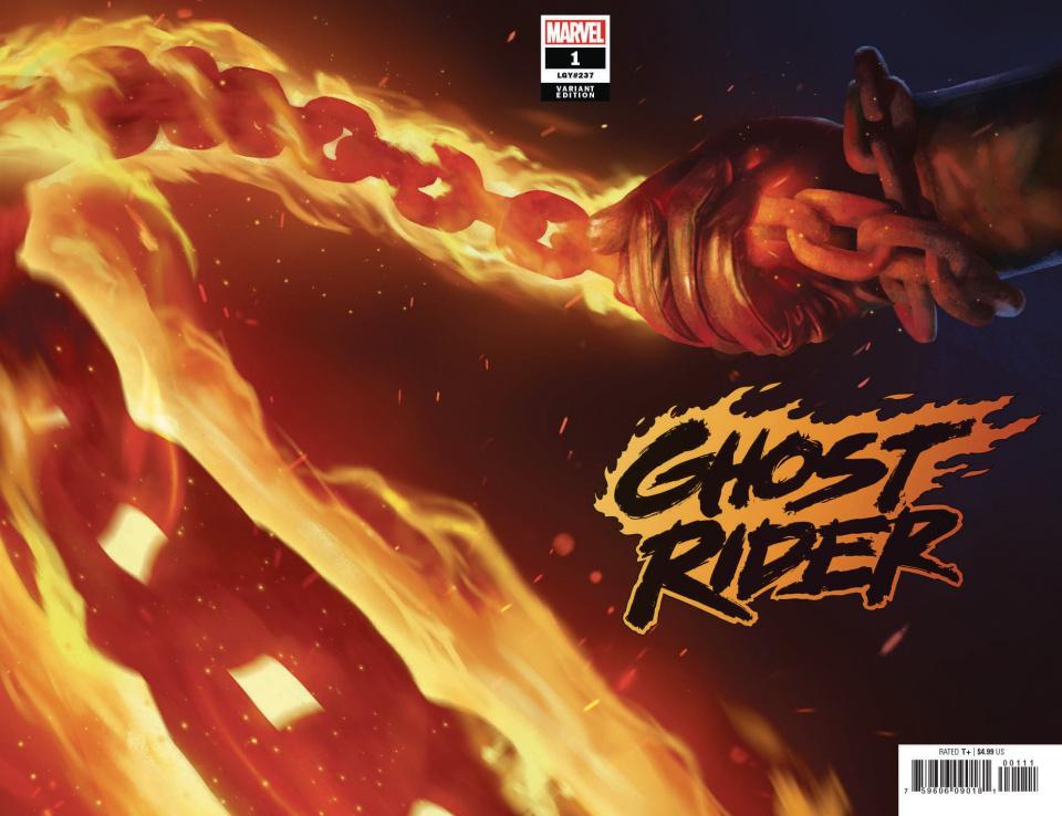 Ghost Rider #1 (Rahzzah Wraparound Teaser Cover)