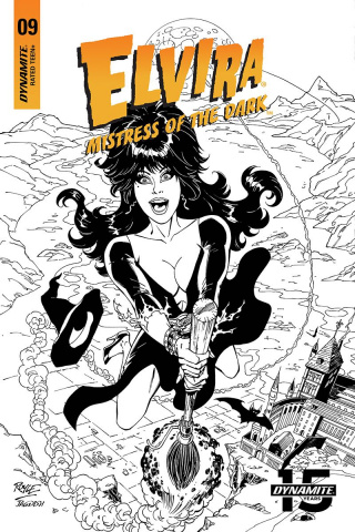 Elvira: Mistress of the Dark #9 (20 Copy Royle B&W Cover)