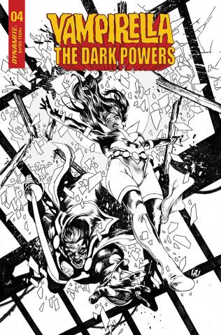 Vampirella: The Dark Powers #4 (10 Copy Lau B&W Cover)
