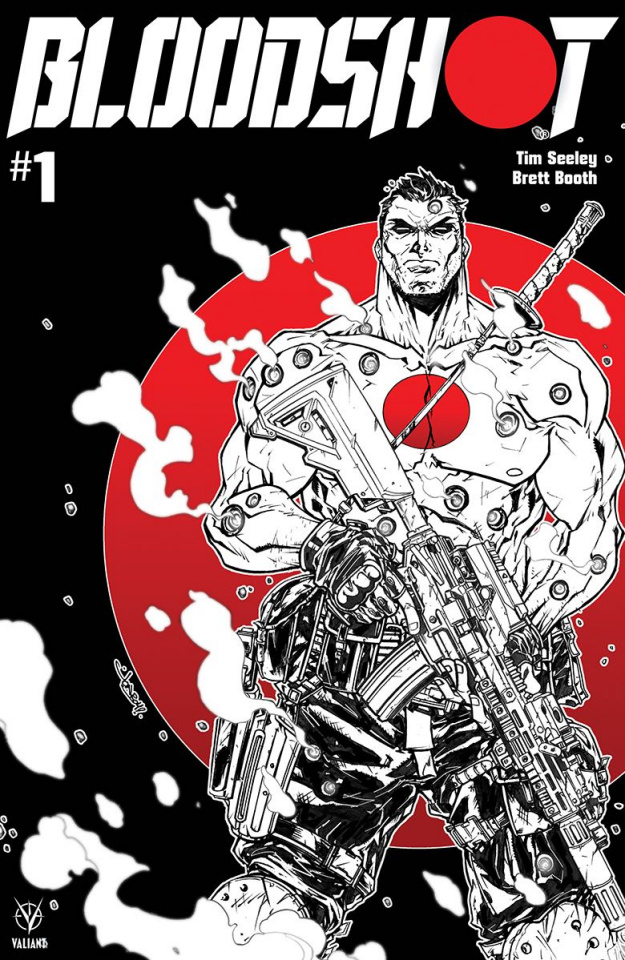 Bloodshot #1 (B&W & Red Meyers Cover)