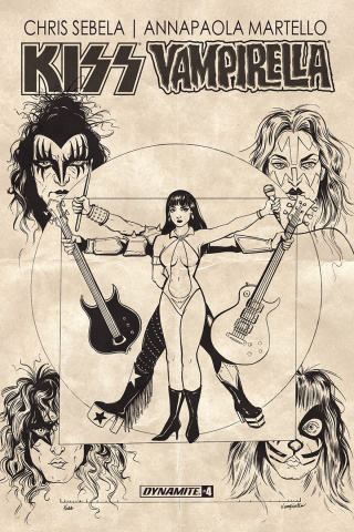KISS / Vampirella #4 (10 Copy Idhe Cover)