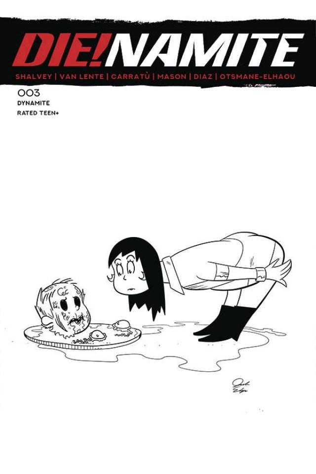 DIE!namite #3 (7 Copy Dr. Seuss Homage Line Art Cover)