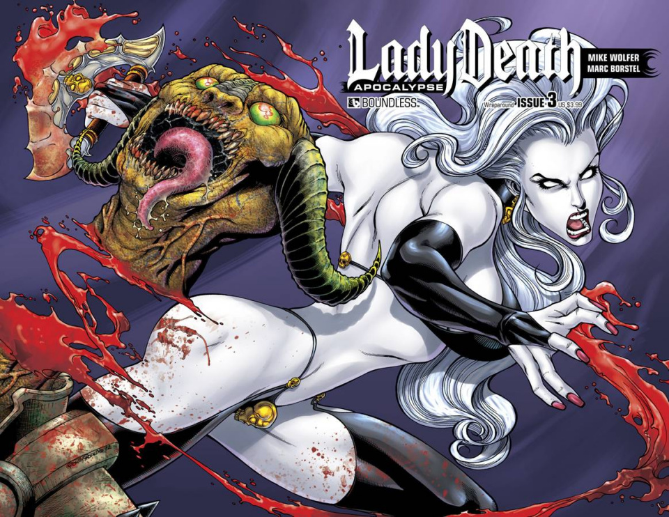 Lady Death: Apocalypse #3 (Wrap Cover)