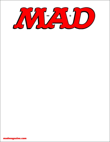 MAD Magazine #538 (Blank Cover)