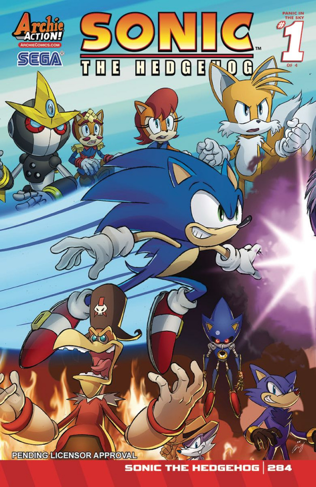 Sonic the Hedgehog #284 (Schoening Cover)