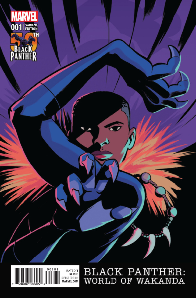 Black Panther: World of Wakanda #1 (Black Panther 50th Anniversary Cover)