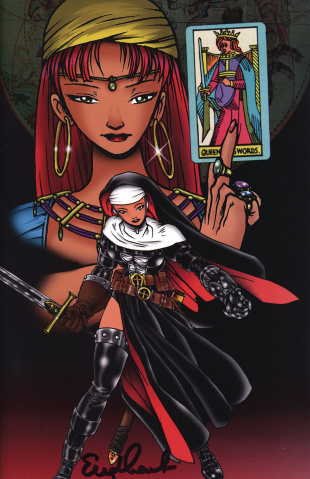 Warrior Nun #1 (Scorpio Rose Commemorative Signed Cover)