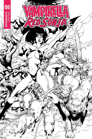 Vampirella / Red Sonja #6 (7 Copy Castro B&W Cover)