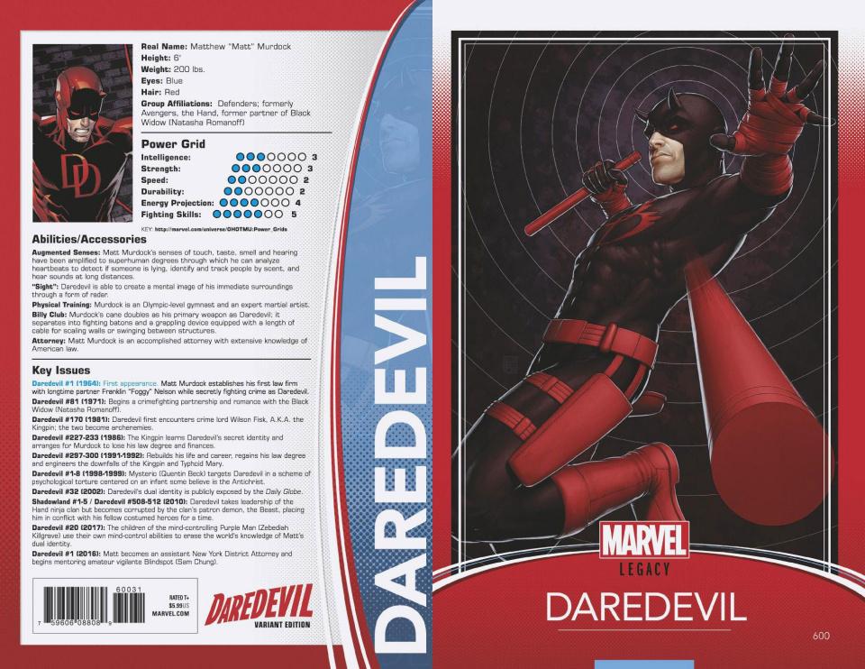 Daredevil #600 (Christopher Trading Card Cover)
