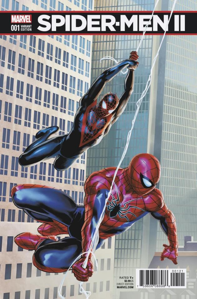 Spider-Men II #1 (Saiz Connecting Cover)