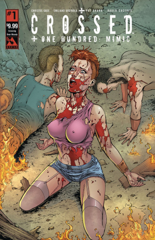 Crossed + One Hundred: Mimic #1 (Crossing Over Bloody Cover)