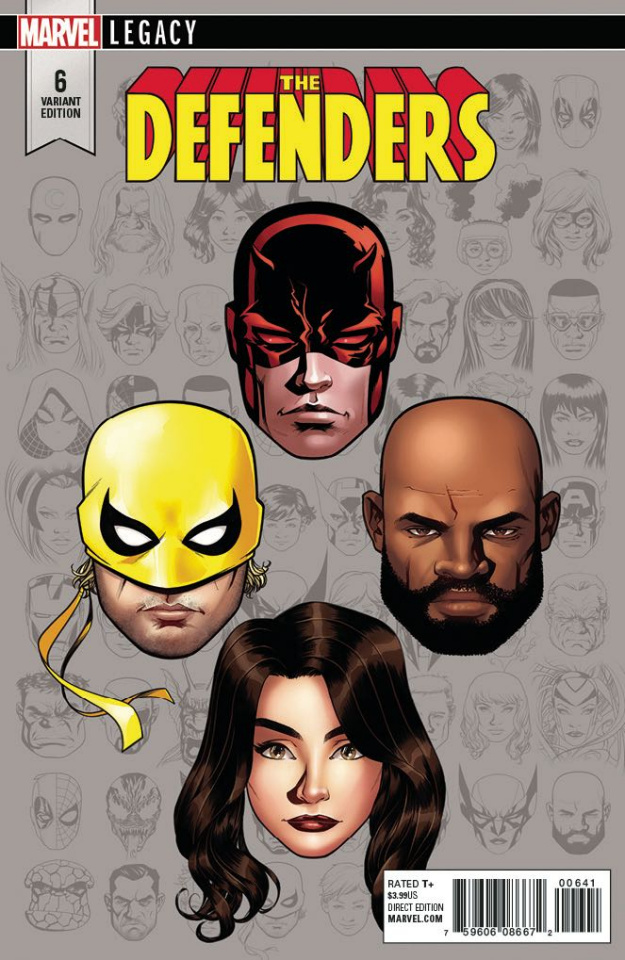 The Defenders #6 (McKone Legacy Headshot Cover)