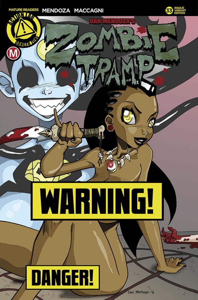 Zombie Tramp #33 (Mendoza Risque Cover)