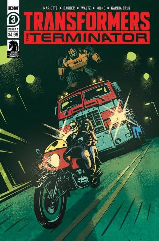The Transformers vs. The Terminator #3 (Fullerton Cover)