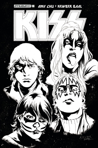 KISS #10 (15 Copy Baal B&W Cover)