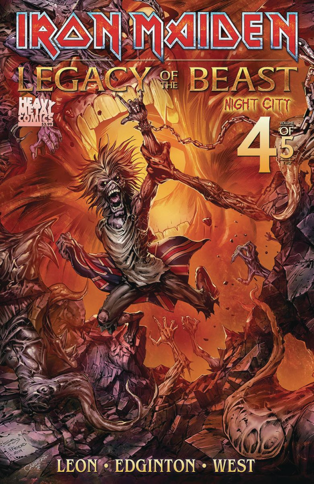 Iron Maiden: Legacy of the Beast - Night City #4 (Cover B)