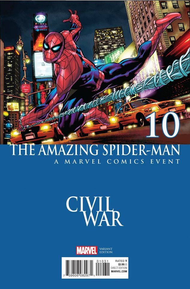 The Amazing Spider-Man #10 (Perkins Civil War Cover)