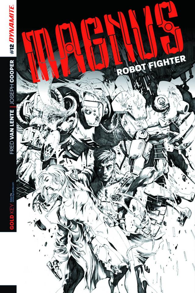 Magnus, Robot Fighter #12 (10 Copy Lau B&W Cover)