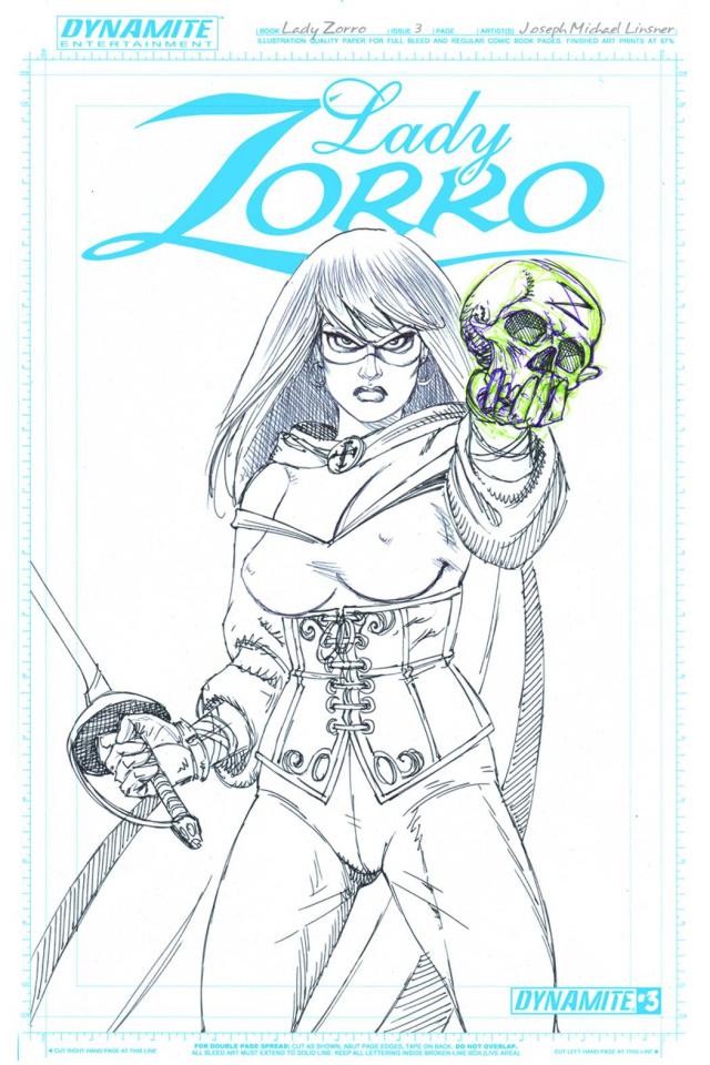 Lady Zorro #3 (10 Copy Linsner Art Board Cover)
