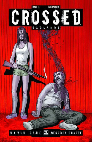 Crossed: Badlands #14 (Red Crossed Cover)