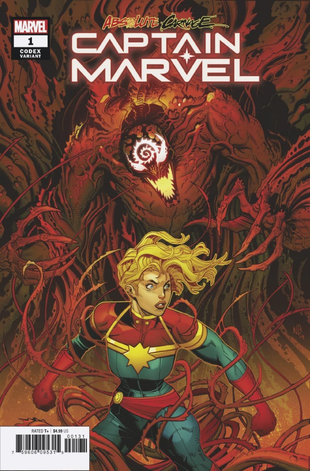 Absolute Carnage: Captain Marvel #1 (Bradshaw Codex Cover)