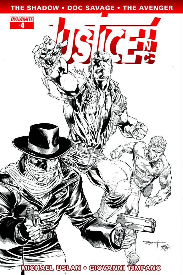 Justice, Inc. #4 (15 Copy Syaf B&W Cover)