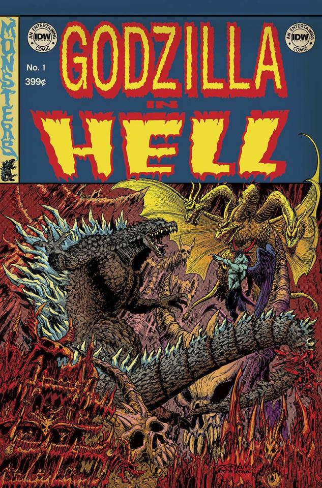 Godzilla in Hell #1 (EC Subscription Cover)
