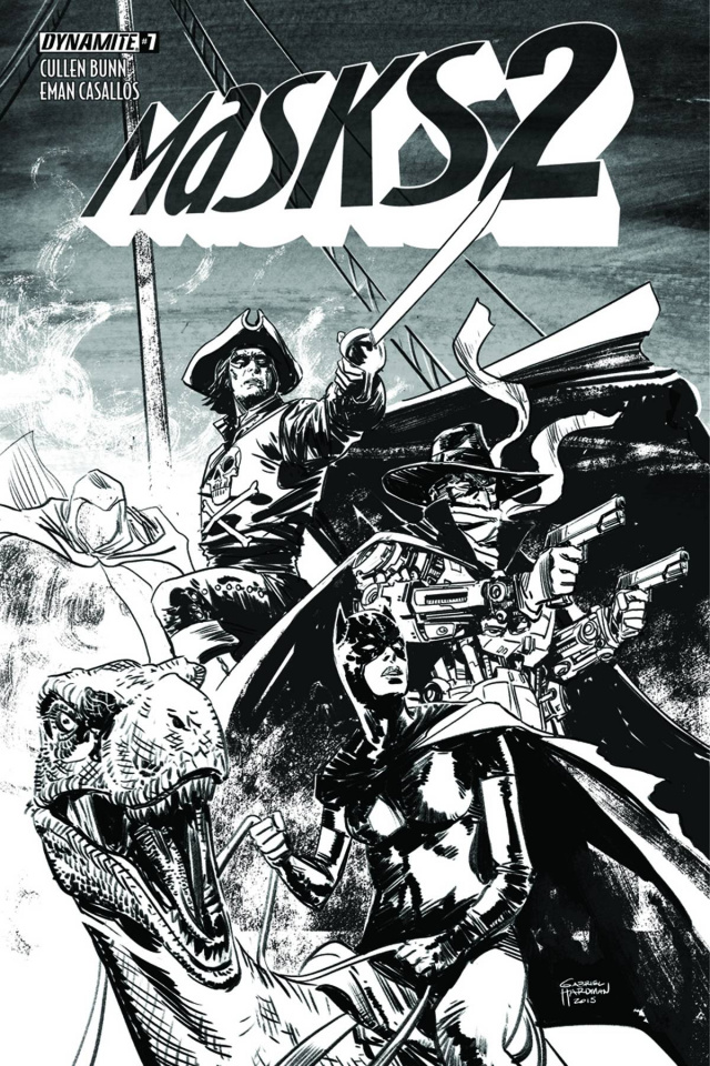 Masks 2 #7 (30 Copy Hardman B&W Cover)