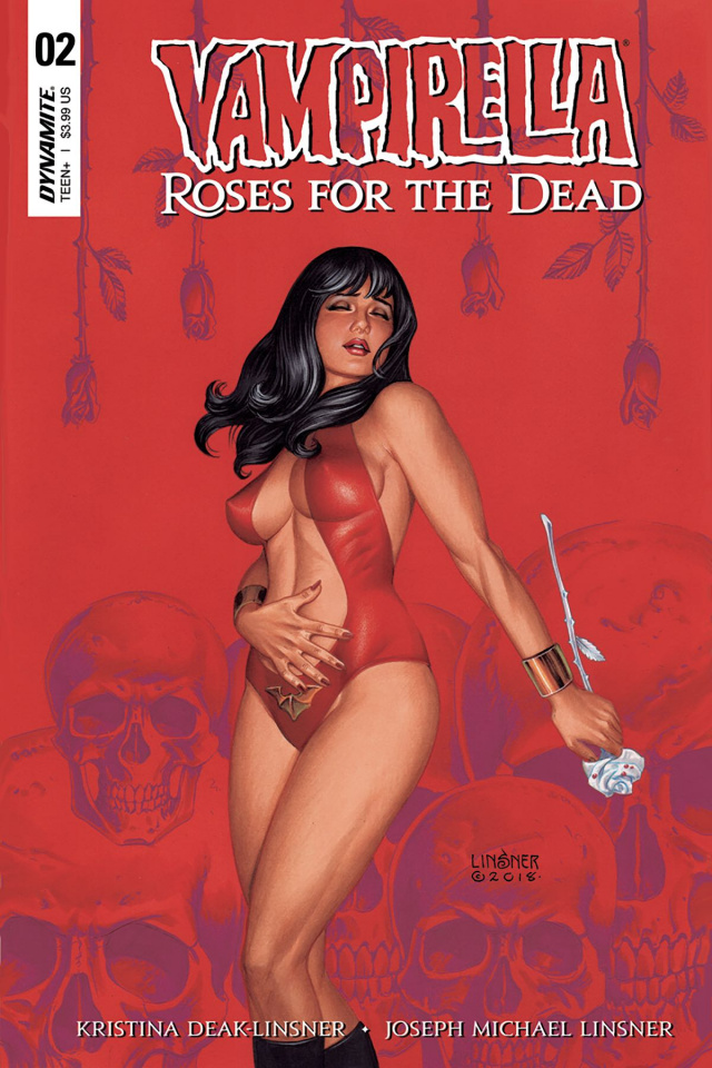 Vampirella: Roses for the Dead #2 (Linsner Cover)