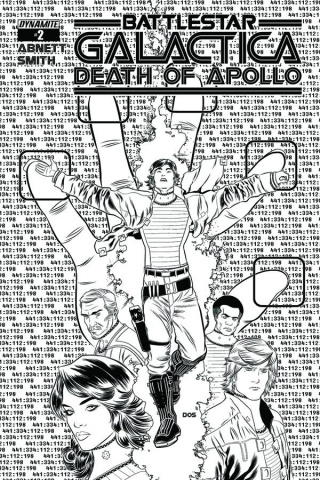 Battlestar Galactica: Death of Apollo #2 (10 Copy Smith B&W Cover)