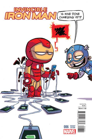 Invincible Iron Man #6 (Young Cover)