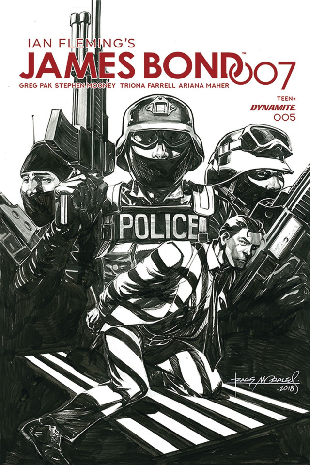 James Bond: 007 #5 (30 Copy Morales B&W Cover)