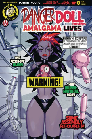 Danger Doll Squad Presents: Amalgama Lives #1 (Young Risque Cover)