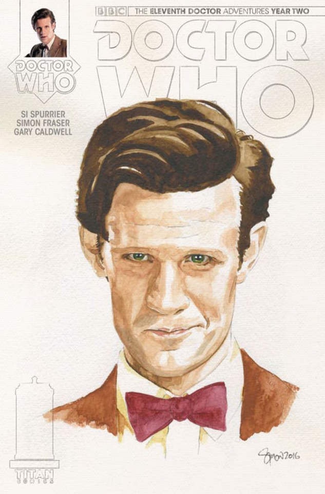 Doctor Who: New Adventures with the Eleventh Doctor, Year Two #14 (Myers Watercolor Cover)