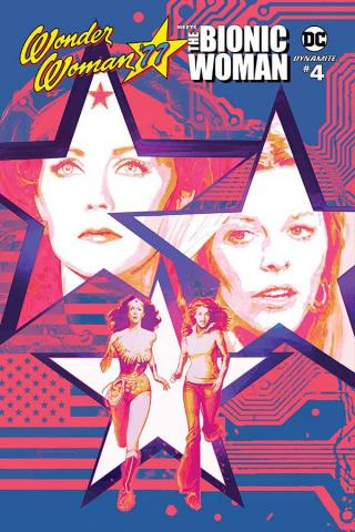 Wonder Woman '77 Meets The Bionic Woman #4 (Sienkiewicz Cover)