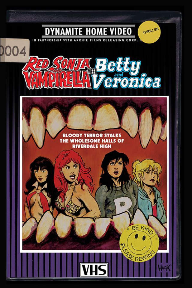 Red Sonja and Vampirella Meet Betty and Veronica #4 (Hack Cover)