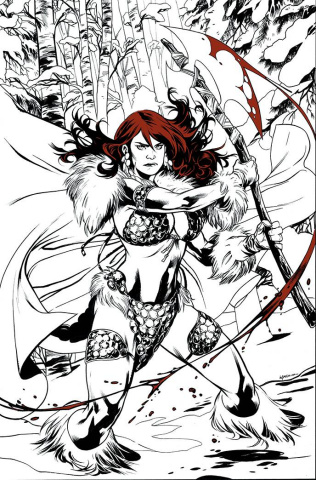 Red Sonja: Black, White, Red #1 (Lupacchino Virgin Cover)