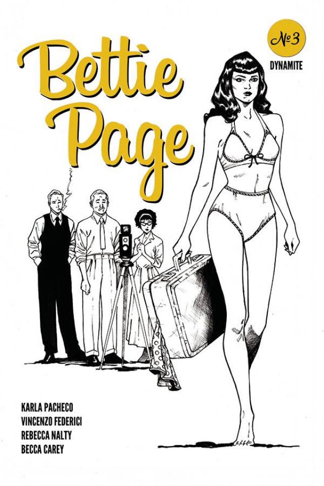 Bettie Page #3 (20 Copy Peebles Homage B&W Cover)