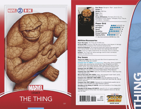Marvel Two-In-One #1 (Christopher Trading Card Cover)