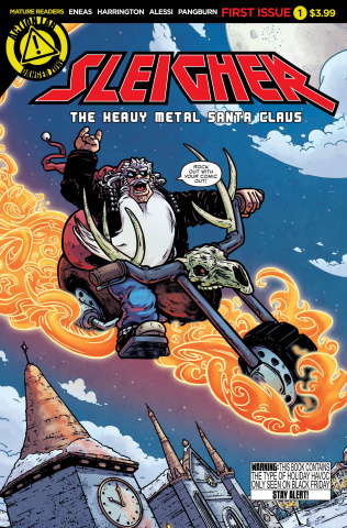 Sleigher: The Heavy Metal Santa Claus #1 (Eneas Cover)