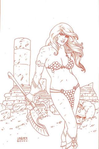 Red Sonja #19 (30 Copy Linsner Tint Virgin Cover)
