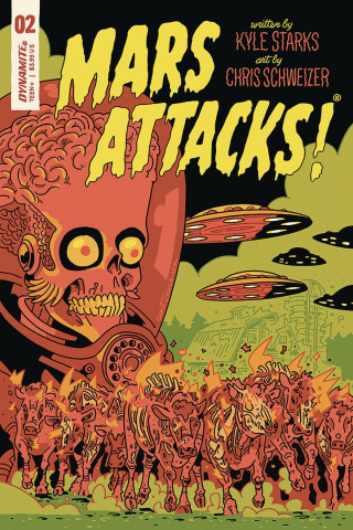 Mars Attacks #2 (Schweizer Cover)