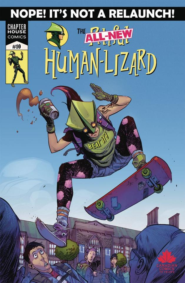 The Pitiful Human-Lizard #10 (Burnett Cover)